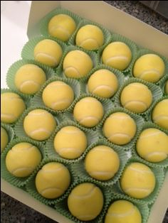 Tennis cake balls - cake - for all your cake decorating supplies, please visit craftcompany.co.uk