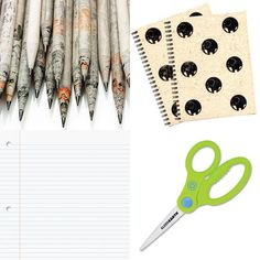 Eco-Friendly School Supplies - Crystal Génier - Eco-Friendly School Sup. School Classroom, School Fun, School Days, Sustainable Schools, Stationary Shop, Eco Friendly Cars, College School Supplies, Green Living Tips, Learning Time