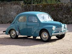 Renault 4CV -1946 My little blue Renault was a 4 door hatchback from 1969 I think. LOVED its milage! I would like anothere Renault please!