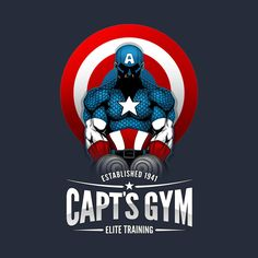 Check out this awesome #Captain #America #Gym #Bodybuilding #Shirt @ https://www.teepublic.com/t-shirt/40069-capts-gym?aff_store_referral_id=756
