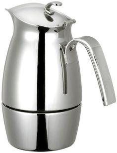 CUISINOX COF-B6 Bella 6-Cup Stainless Steel Stove Top Espresso Maker - http://www.teaandcoffeemaker.com/stovetop-espresso-pots/cuisinox-cof-b6-bella-6-cup-stainless-steel-stove-top-espresso-maker/