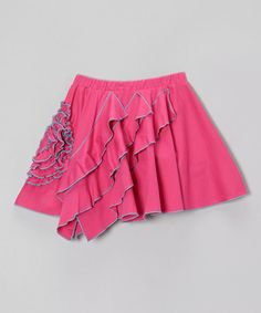 Take a look at this Fuchsia & River Blue Rose Skirt - Girls by Lemon Loves Lime on today! River Blue, Ruffles, Lime, That Look, Ballet Skirt, Pretty, Skirts, Cotton, Clothes