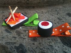 Sushi Feast  Ribbon Sculpture Set by patyg13 on Etsy, $6.50