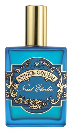 The concept behind Annick Goutal Nuit Etoilee—a starry night in a reference to Van Gogh's masterpiece--makes this perfume alluring Blue Perfume, Perfume Bottles, Vintage Perfume, Top Perfumes, Cosmetic Packaging, Perfume Packaging, Turquoise, Holiday Sales, Story Tale