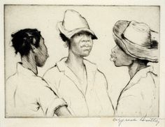 Alfred h. hutty, drypoint etching