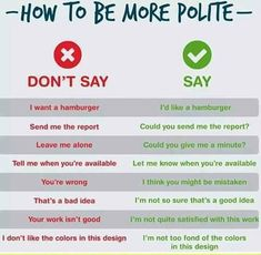 How to talk more polite