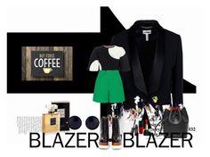 #workblazer by tzortziadel on Polyvore featuring polyvore, fashion, style, Alexander McQueen, Erdem, Roland Mouret, Jeffrey Campbell, The Row, Guerlain, Chanel, 14 and workblazer