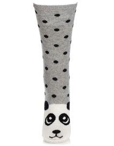 Xanda Panda Face Socks | Grey | Accessorize, 5,50e