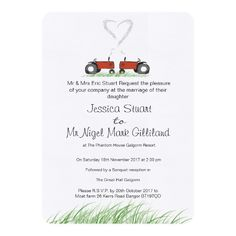 Customisable Invitation made by Zazzle Invitations. Zazzle Invitations, Invites, Tractor Wedding, Wedding Planning, Wedding Ideas, Winter Wedding Invitations, Funny Ideas, Create Your Own Invitations, Wedding Receptions