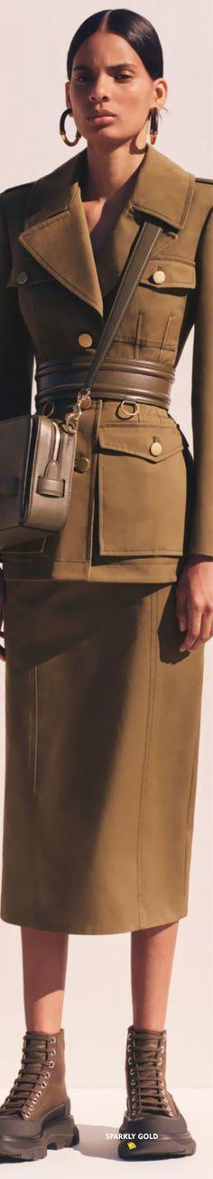 Alexander McQueen Resort 2020 | Sparkly Gold ::