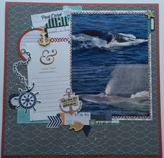 This month I decided to create a kit of supplies using the new My Minds Eyes By The Sea collection.