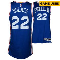 Richaun Holmes Philadelphia 76ers Fanatics Authentic Game-Used  22 Blue  Jersey vs. New York Knicks On April 12 f4d9ddd28