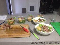 Meal prepping lamb salad