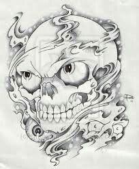 Skull And Smoke Tattoo Designs Smoke and skull by smokysunset Cool Skull Drawings, Badass Drawings, Skull Artwork, Dark Art Drawings, Tattoo Drawings, Lace Skull Tattoo, Evil Skull Tattoo, Sugar Skull Tattoos, Shiva Tattoo Design
