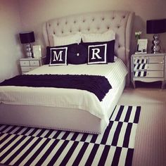 We love seeing our customers styled shots, Abode's monogrammed cushion look amazing in this regram from @madz_fashiondiaries! Bedroom love!