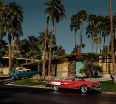 Palm Springs au clair de lune, immortalisée par Tom Blachford