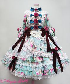 Angelic Pretty Queen Rose Princess Dress Set