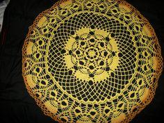 Nice bright color. Crochet Doilies, Table Runners, Bright, Nice, Color, Colour, Nice France, Colors
