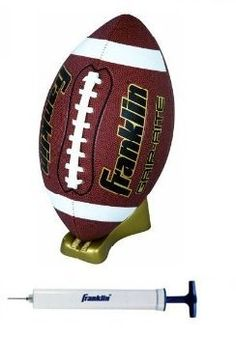 Franklin Sports Grip-Rite Pump and Tee Football Set (Official Size) by Franklin. $7.99. Our Franklin Sports Grip-Rite Pump and Tee Football Set features a deep pebble surface football with tacky touch cover, precision stitched and a gold colored pump and tee. Official size.