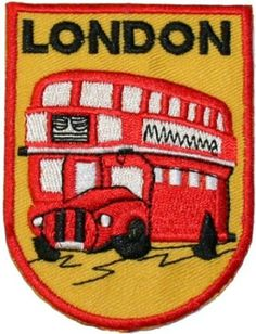 Amazon.com: London Double Decker Bus Travel Souvenir Embroidered iron on Patch: Clothing