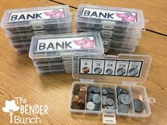 The Bender Bunch: Individual Student Coin Banks