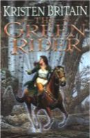 The Green Rider by Kristen Britain Karigan has fled from school following a fight. As she travels through the forest, a horse & its rider impaled by two arrows, ride up to her. With his dying breath, he tells her he is a Green Rider, one of the legendary messengers of the King. He makes Karigan swear to deliver the message he's carrying, giving her his green coat, with its symbolic broach of office. Pursued by unknown assassins, she finds herself in a world of danger and magic.
