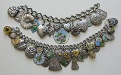 Stunning bracelets packed full of rare and beautiful daisy-oriented charms. Courtesy of Red Robin Antiques