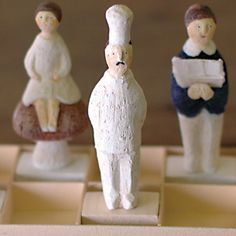 The cook / Nishio Yuki Miniature Figurines, Clay Art, Art Dolls, Diy And Crafts, Geek Stuff, Artsy, Pottery, Toys, Creative