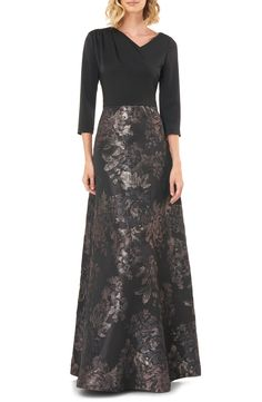 Kay Unger Izabella A-Line Evening Gown | Nordstrom Evening Gowns Online, Day Dresses, Formal Dresses, Kay Unger, Mom Dress, A Line Gown, Tops For Leggings, Lace Skirt, Ball Gowns