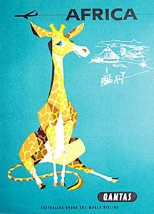 Qantas Travel Posters by William F. Schey/Harry Rogers (1950s-1960s) Love vintage travel posters... we need some more