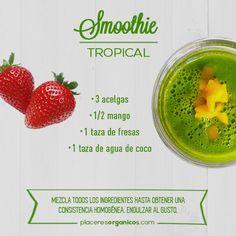 Smoothie tropical!!!... Ufff!!! una deliciosa opción para esta primavera!!