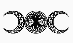 celtic tree stencil | Moons opposite and Celtic spirals tattoo stencil 8 (click for full ...