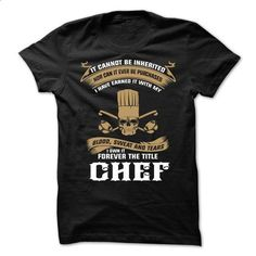 I OWN IT FOREVER THE TITLE CHEF - #tshirt bag #long tshirt. SIMILAR ITEMS => https://www.sunfrog.com/LifeStyle/CHEF-SHIRT-66096663-Guys.html?68278