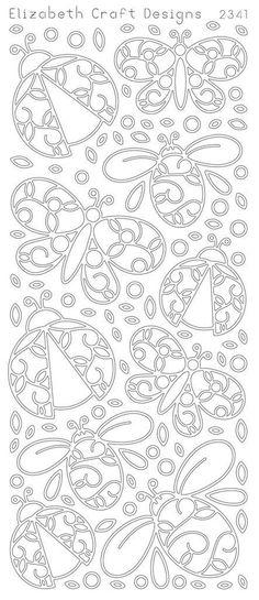 Elizabeth Craft Designs PeelOff Sticker 2341B Lady by PNWCrafts, $2.10: