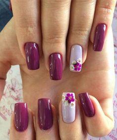 Flower Nail Designs, Nail Designs Spring, Nail Art Designs, Nails Design, Fancy Nails, Cute Nails, Pretty Nails, Spring Nail Art, Spring Nails