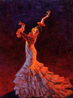 Flamenco Flame, by Roseann Munger