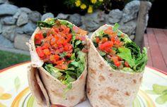 Whole wheat vegetarian lavash wraps - Mytaste.com