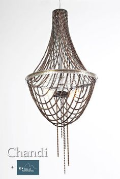 Chandi - chandelier with bicycle chains to be auctioned off for kids of katmandu