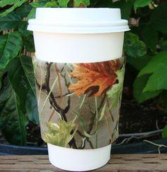 Camo Fabric Coffee Cozy by MyCozyCabinCreations on Etsy, $4.00