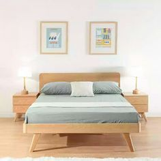 Japanese Wooden Bed Minimalist