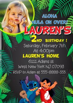 Lilo And Stitch Birthday Party Invitation