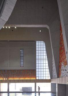 Balkrishna Doshi, VSF, Edmund Sumner · Tagore Memorial Hall