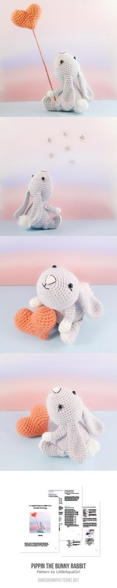 Pippin The Bunny Rabbit Amigurumi Pattern sweet                                                                                                                                                                                 More