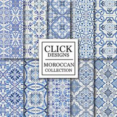 Marroquí de Digital de papel: Papeles de scrapbook por ClickDesigns