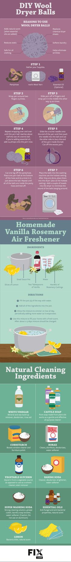 These DIY natural cleaning solutions offer a green alternative to your household cleaners.