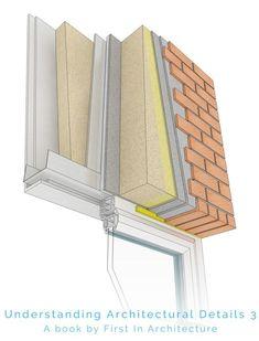 Steel frame window detail