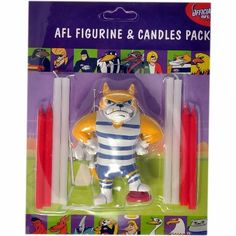 Geelong Cats cake topper kit. afl birthday stuff