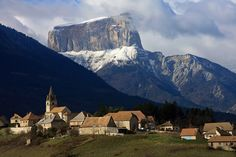 Mont Aiguille and Percy in the Sud Vercors, Rhône-Alpes   France