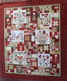The full Quilt. Gail Pan Christmas BOM