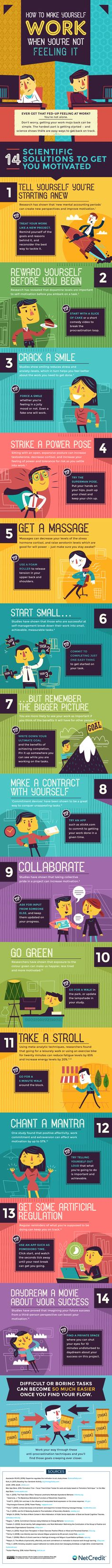 How to Make Yourself Work When You're Not Feeling It #Infographic #HowTo